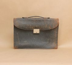 Vintage Leather Briefcase with KeyVintage Work by TheMensShoppe, $58.00