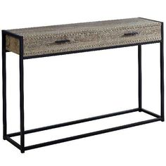 Monarch Specialties Dark Taupe Reclaimed Wood-Look Modern Console Table at Lowe's. Boost the look of your entryway, hallway, living room or office space with this modern style, rectangular console accent table that contrasts rustic Furniture Deals, Table Furniture, Living Room Furniture, Hardwood Furniture, Metal Furniture, Trinidad, Table Sofa, Dining Chairs, Dining Room