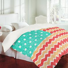 DENY Designs Home Accessories   Nick Nelson Zig Zag Flag Duvet Cover