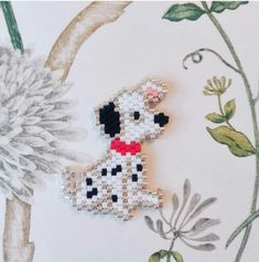 Delica bead dalmation dog