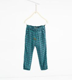 Image 1 of Flowing printed trousers from Zara