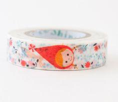 Little Red Riding Hood Flower Shinzi Katoh Washi Tape