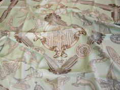 Authentic Vintage Hermes Silk Scarf Les Parures du Vent, Joachim Metz 1991
