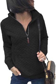 XIBADA Womens Card car Tree Casual Loose Long Sleeve Weatshirt with Adjustable Drawcord