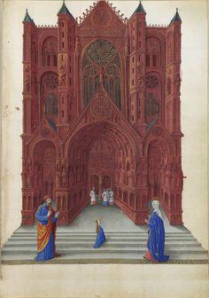 Très Riches Heures du duc de Berry - Opdracht in de tempel.