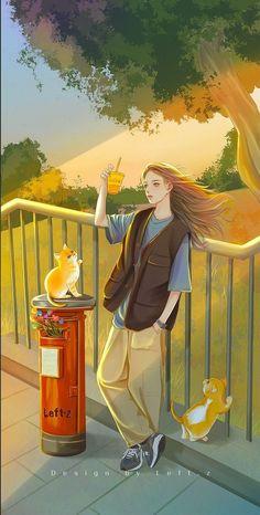 Scary Drawings, Girly Drawings, Cute Cartoon Girl, Cartoon Art, Imagination Art, Prophetic Art, Anime Scenery, Cute Wallpapers, Aesthetic Anime