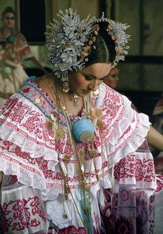 The beautiful pollera - national dress of Panama