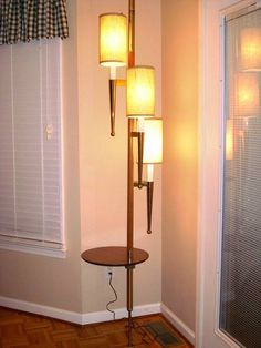 MCM tension pole lamp table