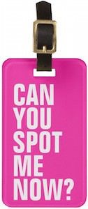 Can You Spot Me Now Luggage Tag