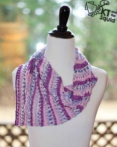 I designed this shawl for those beautiful striped yarns out there. The Doty Shawl is asymmetrical and starts with just s few stitches. I love how the stripes get thinner as the shawl gets wider. Th…