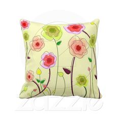 Whimsical Flowers - Pillow