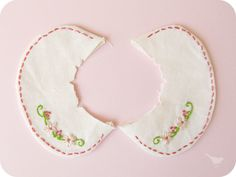 homemade by jill: embroidered collar