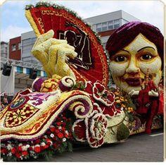 Flower parade St Gillis D'monde Belgium