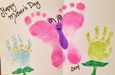 Mother's Day handprint footprint craft!