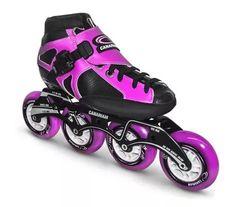 patines profesionales en linea canariam signo Speed Skates, Purple Shoes, Roller Derby, Figure Skating, Fitness, Skateboard, Bike, Black Gold, Hobbies