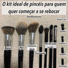 Contour Makeup, Glam Makeup, Makeup Brush Set, Skin Makeup, Beauty Makeup, How To Make Hair, Make Up, Makeup Tools, Makeup Tutorials