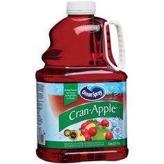 Ocean Spray: Cran-Apple Juice Drink, 3 L Ocean Spray Cranberry, Cranberry Juice Cocktail, Juice Drinks, Apple Juice, Saving Money, Salsa, Raspberry, Jar, Cooking