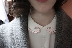 Embroidered Collar.