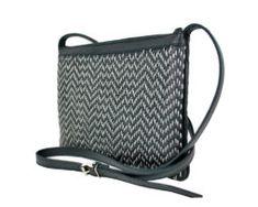 Kožená kabelka ručne vyšívaná v čiernej farbe-šedé vyšívanie (3) Bags, Fashion, Handbags, Moda, Fashion Styles, Fashion Illustrations, Bag, Totes, Hand Bags