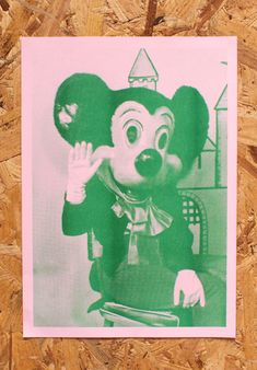 Mickey riso print. Buy it here: http://zoeaustin.bigcartel.com/