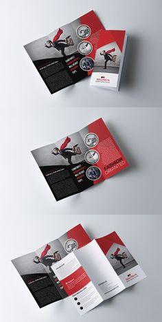 Business Trifold Brochure Template 3 Fold Brochure, Brochure Layout, Business Brochure, Brochure Template, Business Card Design, Card Templates, Magazine Ideas, Graphic Design Brochure, Creative Brochure