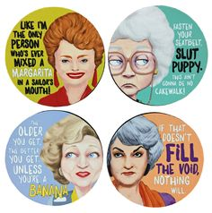 The Golden Girls Coaster Set