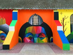 Igreja abandonada no Marrocos ganha grafites multicoloridos