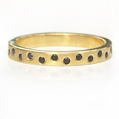 f24e556746019e Black Diamond Wedding Ring handcrafted by Lilia Nash Jewellery, in 18ct  recycled gold or platinum