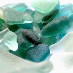ocean blue beach glass