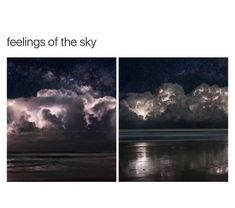 Feelings of the sky