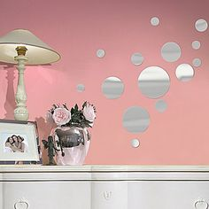 Mirror Dots Wall Decals - jcpenney  On the outside of the door!