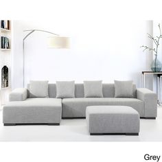Velago Lyon Modern Fabric Sectional Sofa