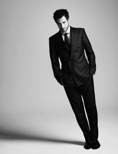 On Shawn Joswick, denim designer and consultant: Double-breasted wool-and-silk suit by Giorgio #Armani