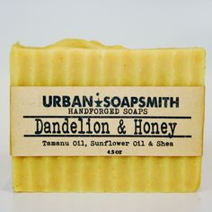 A personal favorite from my Etsy shop https://www.etsy.com/listing/268678609/dandelion-soap-with-honey-lemon-lavender
