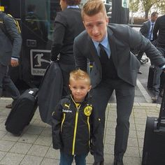 Marco #Reus with a little fan