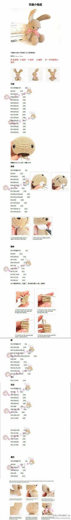 Cómo tejer un conejito a croch