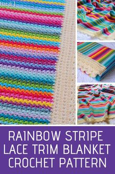 6b3d13fd5c19 Crayon Box Striped Crochet Blanket Pattern