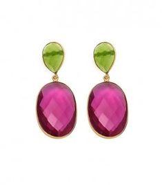 Pendientes Oval Turmalina  Y como sabéis... ¡todas nuestras joyas son PERSONALIZABLES!  Consúltanos!! ☺  welowe.com