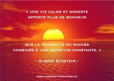 La théorie du bonheur selon Albert Einstein: « Une vie calme et modeste apporte plus de bonheur que la poursuite du succès combinée à une agitation constante. »  #alberteinstein #alberteinsteinquotes #happiness #citation #citationdujour #quotes #quotesoftheday #dailyquotes         #lifecoaching #upgradeyourbrain #lifetips #happyquotes #inspiring   #wisdom #happinesswithin #liveyourlife #dailymotivation #dailyinspiration