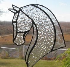 Your place to buy and sell all things handmade Stained Glass Crafts, Stained Glass Patterns, Clear Glass, Glass Art, Clothing Hacks, Horse Head, Suncatchers, Mosaic, I Shop