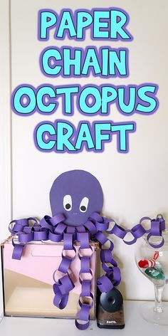 This Paper Chain Octopus Craft is a perfect addition to an under the sea birthday party, or a classroom unit on ocean animals.