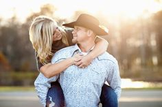 Country couple engagement