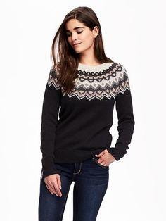Old Navy's Fair Isle Crew-neck Sweater