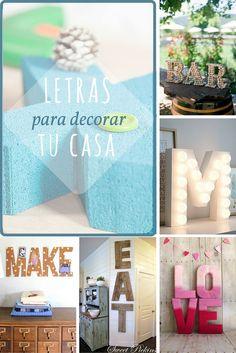 Letras para decorar tu casa - De corcho, de madera, de cartón, de cemento... ¡Tú eliges!