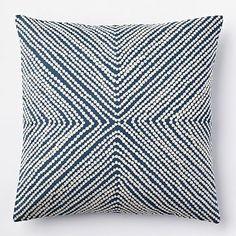 Diamond Dot Crewel Pillow Cover - Blue Lagoon #westelm