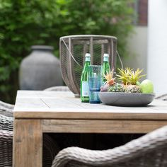 Outdoor Vignettes: Crafted from solid reclaimed teak wood and galvanised steel hardware, style the Charleroi Outdoor Table with refined coastal accents for perfect alfresco entertaining. Available exclusively at Coco Republic. #CocoRepublic #OutdoorStyling #DiningTable #Timber #DesignScheme