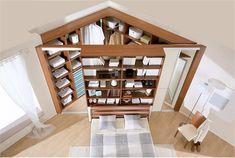 Треугольный шкаф-купе в спальне у изголовья кровати