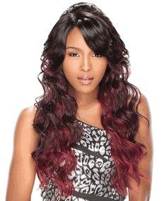 Sensationnel Lace Front Edge Bump Up Style Wig Scarlet