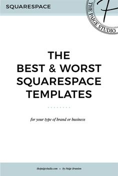What are the best and worst Squarespace templates? Click through to find out so you can improve your Squarespace website >>> Web Design Tips, Blog Design, Design Ideas, Website Design Inspiration, Business Website, Business Tips, Serious Business, Online Business, Hobby Lobby