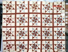 French Star Variation, Scrap Period: Pre-1799 Location Made: United States Project Name: Connecticut Quilt Search Project Contributor: Connecticut Quilt Search ID Number: 2433 Quilt Size: 105.25 x 104.25 Fabrics: Cotton, Geometric, Floral, Solid/plain, Plaid Colors: Cream, Blue or Navy, Red Construction: Hand Piecing Quilting Techniques: Hand quilting Detail Images: No additional images uploaded